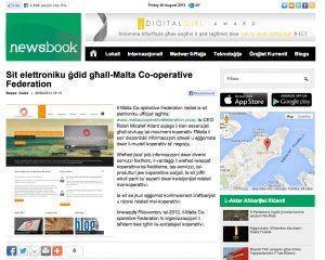 Malta Co-operative Federation website on Newsbook